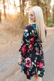 We'll Dance For Rain Floral Dress - Women's Clothing AfterPay Sezzle KanCan Judy Blue Simply Sass Boutique