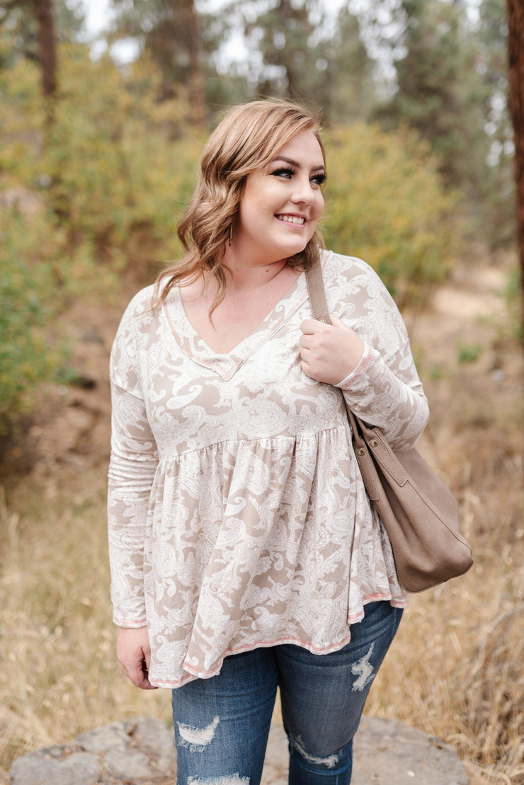 Dream A Little Dream Paisley Babydoll Top - Simply Sass Boutique