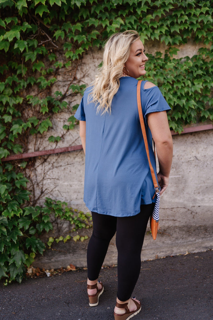 Steel Blue Magnolias Top - Women's Clothing AfterPay Sezzle KanCan Judy Blue Simply Sass Boutique