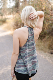 Master Of Disguise Camo Tank - Women's Clothing AfterPay Sezzle KanCan Judy Blue Simply Sass Boutique