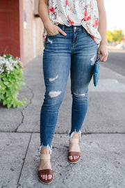 Love Bite's Judy Blue Cropped Skinny Jeans - Simply Sass Boutique