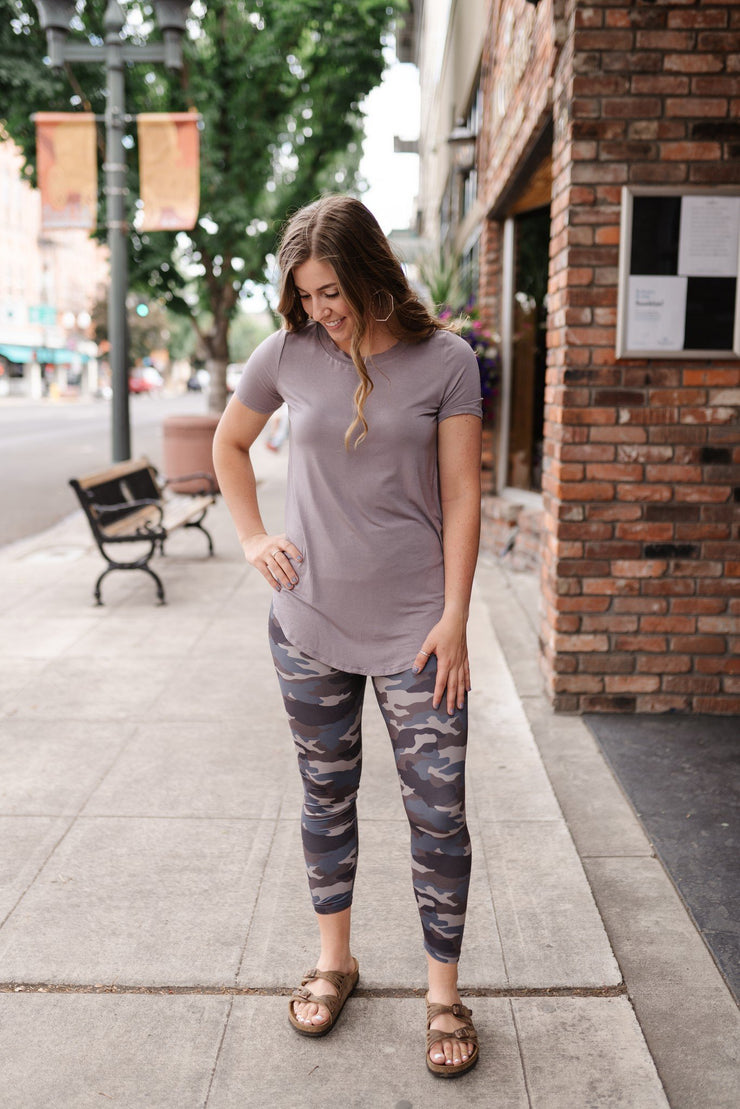 Everyday Basic Espresso Latte Top - Women's Clothing AfterPay Sezzle KanCan Judy Blue Simply Sass Boutique