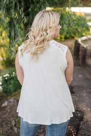 Heathered Lacy Tank - Women's Clothing AfterPay Sezzle KanCan Judy Blue Simply Sass Boutique
