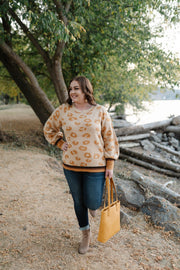 Mustard For Days Leopard Sweater