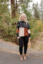 The Trifecta In Leopard Colorblock Sweater - Women's Clothing AfterPay Sezzle KanCan Judy Blue Simply Sass Boutique