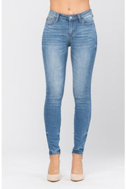 Pin-tacked Non Distressed Skinny Judy Blue Jeans - In House - Women's Clothing AfterPay Sezzle KanCan Judy Blue Simply Sass Boutique
