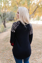 A Perfect Pattern Mix Raglan Sleeve Top