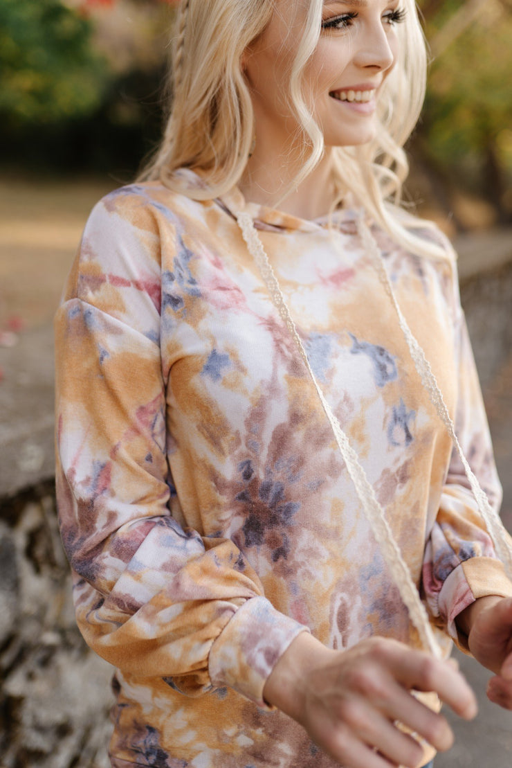 Spiced Cider Tie Dye Hoodie - Women's Clothing AfterPay Sezzle KanCan Judy Blue Simply Sass Boutique