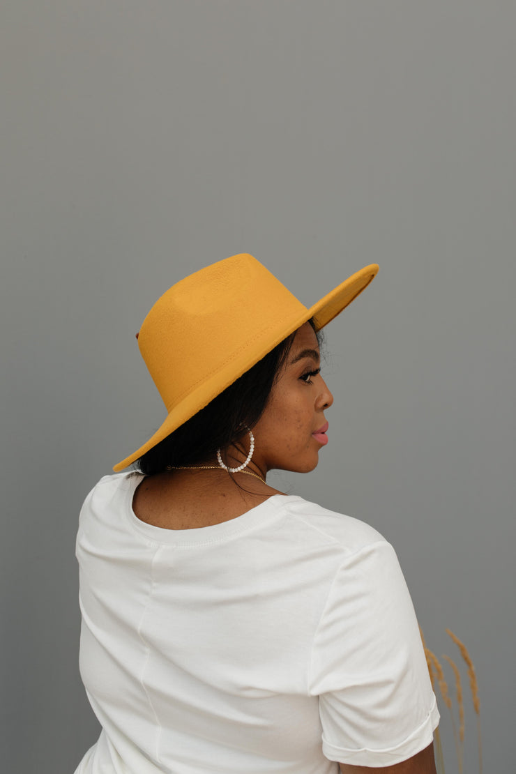 Felicity Flat Brim Hat In Honey - Women's Clothing AfterPay Sezzle KanCan Judy Blue Simply Sass Boutique
