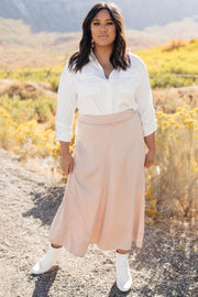 Once Upon a Time Skirt in Champagne - Women's Clothing AfterPay Sezzle KanCan Judy Blue Simply Sass Boutique