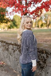 Moving Mountains For You Navy Dotted Top - Women's Clothing AfterPay Sezzle KanCan Judy Blue Simply Sass Boutique