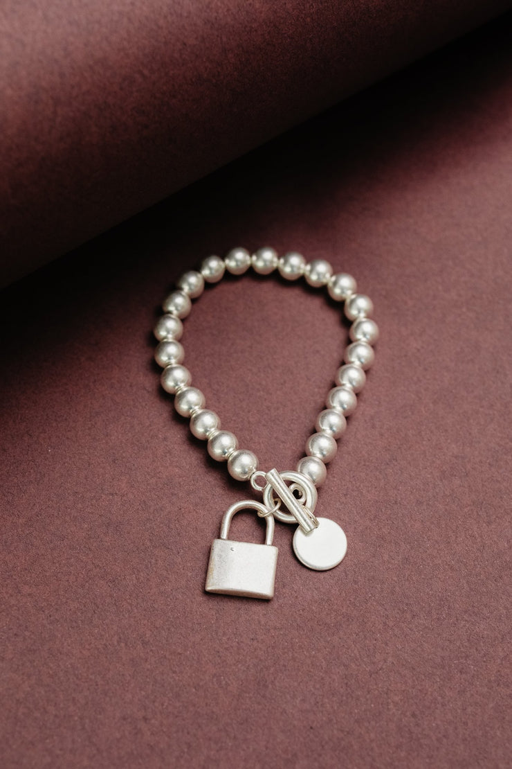 Charmed, I'm Sure Bracelet in Silver - Women's Clothing AfterPay Sezzle KanCan Judy Blue Simply Sass Boutique