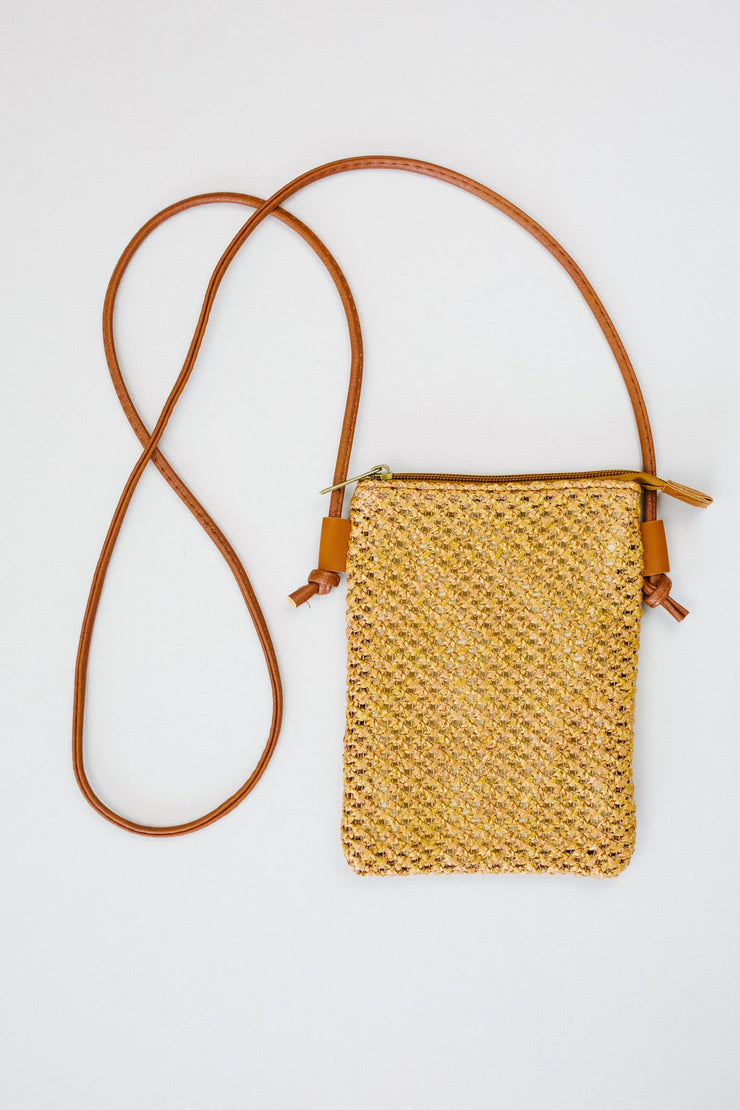 Weave Your Troubles Behind Woven Cell Phone Bag - Women's Clothing AfterPay Sezzle KanCan Judy Blue Simply Sass Boutique