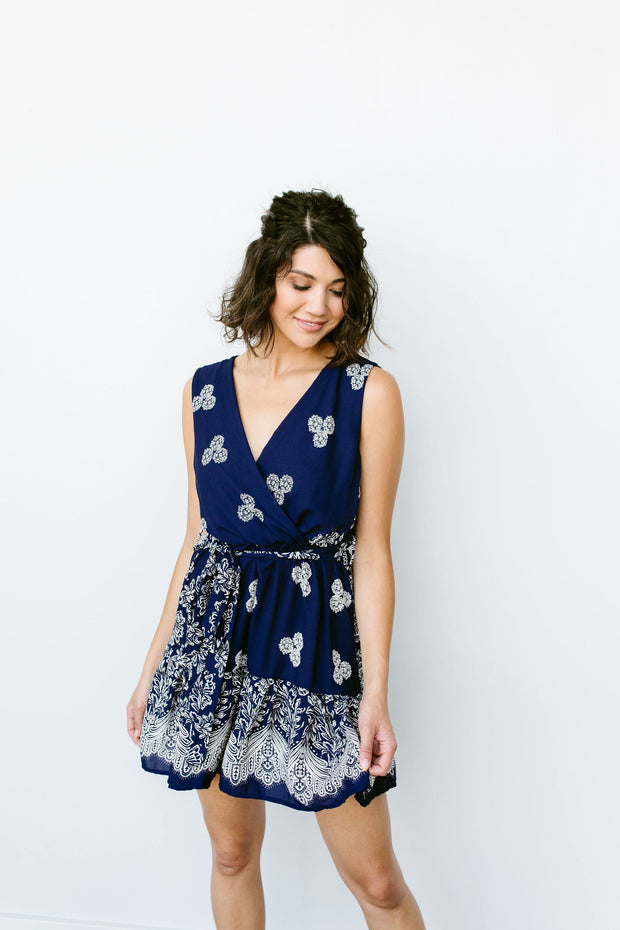 Triple Threat Mini Dress In Navy - Women's Clothing AfterPay Sezzle KanCan Judy Blue Simply Sass Boutique