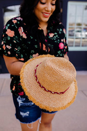 Siesta Or Fiesta Straw Hat - Women's Clothing AfterPay Sezzle KanCan Judy Blue Simply Sass Boutique