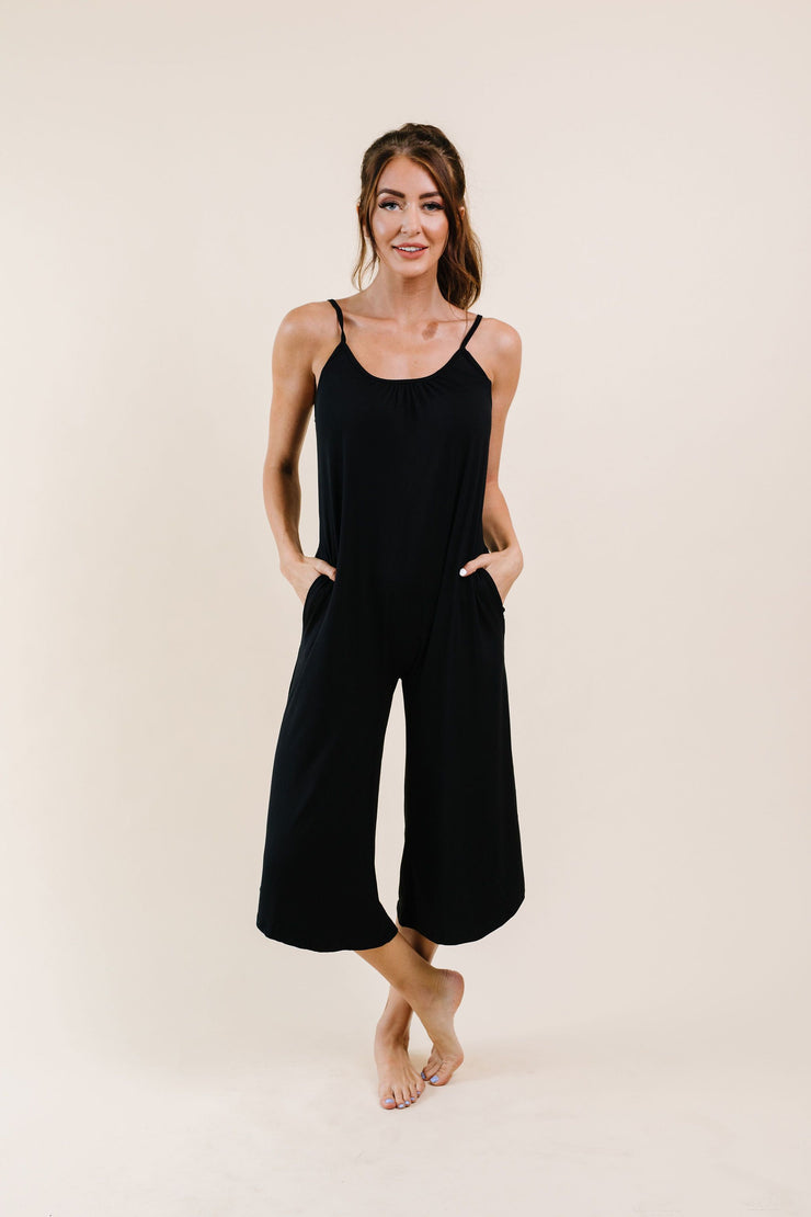 Good Better Best Cropped Tank Jumpsuit - Simply Sass Boutique