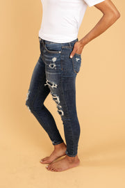 Patched Things Up Jeans - Women's Clothing AfterPay Sezzle KanCan Judy Blue Simply Sass Boutique