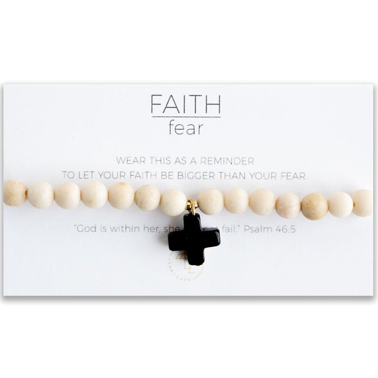 Faith Over Fear Cross Stretch Bracelet - Women's Clothing AfterPay Sezzle KanCan Judy Blue Simply Sass Boutique