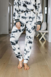 Rejuvenation Black & White Joggers - Women's Clothing AfterPay Sezzle KanCan Judy Blue Simply Sass Boutique