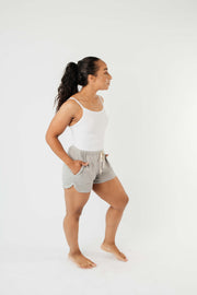 24/7 Shorts In Heather Gray - Women's Clothing AfterPay Sezzle KanCan Judy Blue Simply Sass Boutique