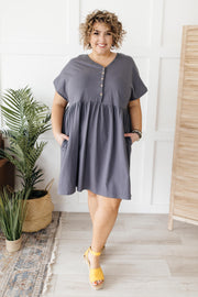 A Wish Your Heart Makes Dress in Charcoal - In House - Simply Sass Boutique