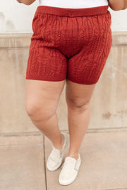Annie Knit Bottoms in Rust - Women's Clothing AfterPay Sezzle KanCan Judy Blue Simply Sass Boutique
