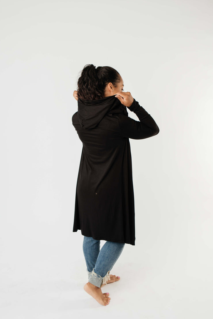 Between Seasons Cardigan In Black - Simply Sass Boutique