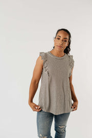 Tessa Textured Stripe Top - Women's Clothing AfterPay Sezzle KanCan Judy Blue Simply Sass Boutique