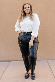 Back To The Future Trousers in Black - Women's Clothing AfterPay Sezzle KanCan Judy Blue Simply Sass Boutique