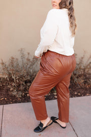 Back To The Future Trousers in Brick - Women's Clothing AfterPay Sezzle KanCan Judy Blue Simply Sass Boutique