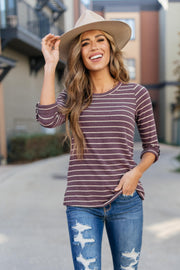 Basically Striped Top - Women's Clothing AfterPay Sezzle KanCan Judy Blue Simply Sass Boutique