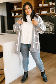Bold Lines Cardigan in Heather Grey - Women's Clothing AfterPay Sezzle KanCan Judy Blue Simply Sass Boutique