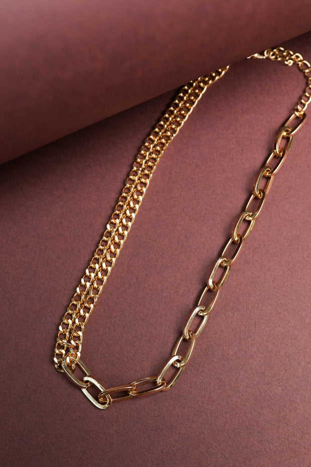 Bound By Chains Gold Necklace - Women's Clothing AfterPay Sezzle KanCan Judy Blue Simply Sass Boutique