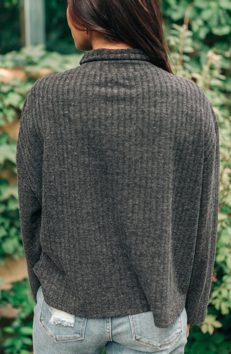 Bower Sweater in Charcoal - Women's Clothing AfterPay Sezzle KanCan Judy Blue Simply Sass Boutique