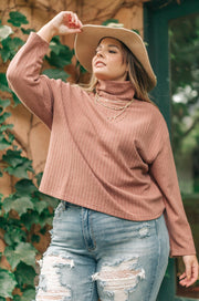 Bower Sweater in Mauve - Women's Clothing AfterPay Sezzle KanCan Judy Blue Simply Sass Boutique
