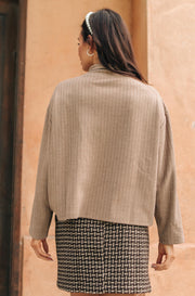 Bower Sweater in Taupe - Women's Clothing AfterPay Sezzle KanCan Judy Blue Simply Sass Boutique