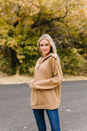 Tactile Treasure Half-Zip Pullover - In House - Women's Clothing AfterPay Sezzle KanCan Judy Blue Simply Sass Boutique