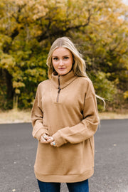 Tactile Treasure Half-Zip Pullover - In House - Simply Sass Boutique