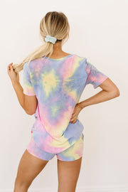 Brushed Knit Tie Dye Lounge Top In Blue - Women's Clothing AfterPay Sezzle KanCan Judy Blue Simply Sass Boutique