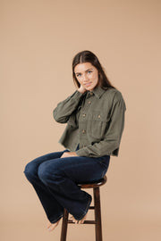 Cargo Pocket Jacket - Women's Clothing AfterPay Sezzle KanCan Judy Blue Simply Sass Boutique