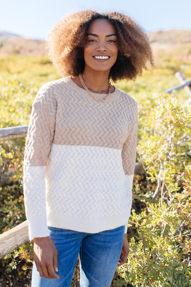Casually Cozy Sweater in Mocha - Women's Clothing AfterPay Sezzle KanCan Judy Blue Simply Sass Boutique