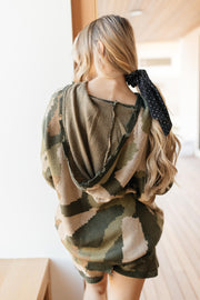 Chasing Sleep Lounge Set Top in Camo - Women's Clothing AfterPay Sezzle KanCan Judy Blue Simply Sass Boutique