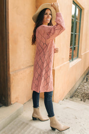 Choose Me Chunky Cardigan in Rose - Women's Clothing AfterPay Sezzle KanCan Judy Blue Simply Sass Boutique