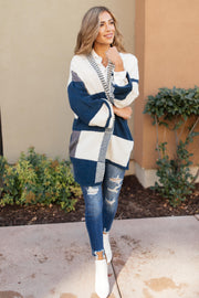 Chunky Patterns Cardigan in Teal - Women's Clothing AfterPay Sezzle KanCan Judy Blue Simply Sass Boutique