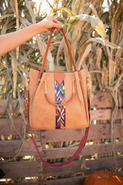 City Chic Tote in Camel - Women's Clothing AfterPay Sezzle KanCan Judy Blue Simply Sass Boutique