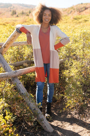 Clarissa Striped Cardigan in Paprika - Women's Clothing AfterPay Sezzle KanCan Judy Blue Simply Sass Boutique
