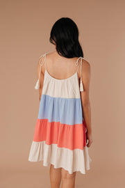 Color Block Ruffles Midi Dress In Coral - Women's Clothing AfterPay Sezzle KanCan Judy Blue Simply Sass Boutique