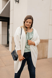 Cozy Chenille Cardi In Ivory - Simply Sass Boutique