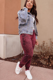 Cozy Joggers in Blackberry - Women's Clothing AfterPay Sezzle KanCan Judy Blue Simply Sass Boutique