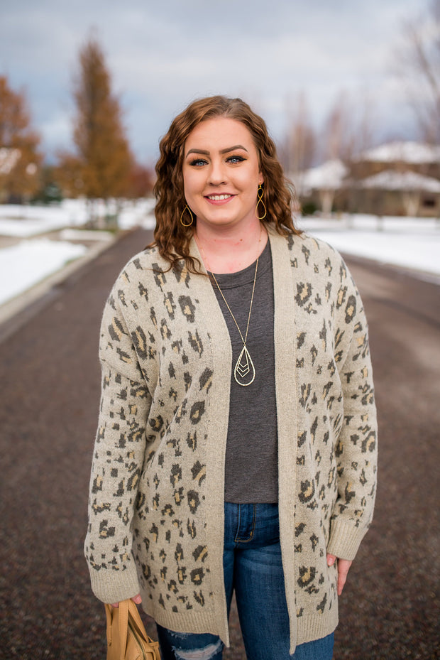Roam Free Leopard Cardigan - In House - Women's Clothing AfterPay Sezzle KanCan Judy Blue Simply Sass Boutique